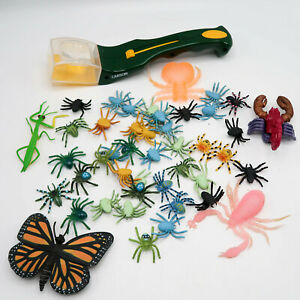 Carson BugView Quick Release Bug Catching Tool and Magnifier & Plastic Bug lot