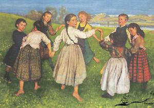 Kunstkarte: Hans Thoma - Der Kinderreigen