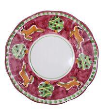 Solimene Vietri Rudolfo Salad Dessert Plate Reindeer Christmas Tree Champagna