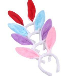Soft Bunny Easter Headband Rabbit Costume Fancy Dress Bunny Ears 5 Colours Party