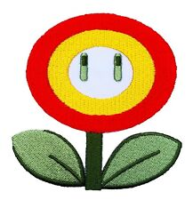 Fire Flower Patch (90 MM) Iron/Sew on Badge Super Mario Brothers World Star Kart