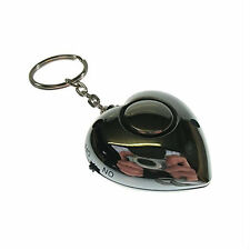Safehaus PAL079 Heart Shaped Personal Rape Alarm Panic Security Keyring Silver