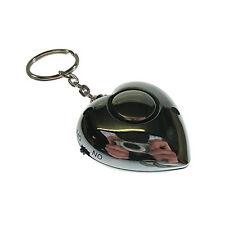 Safehaus PAL079 Heart Shaped Personal Rape Alarm Panic Security Keyring Silver