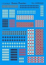 Allied Aircraft WW2 Kill Markings (1/72 and 1/48 decals, Fantasy Printshop 827)