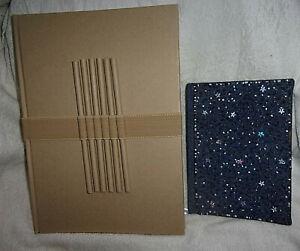 Large Hardback Drawing / Note Book & Pencils, &Beaded Book
