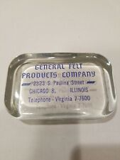 Antique General Felt Products Company Glass Paperweight Lot A9