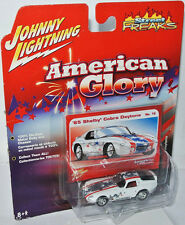 American Glory 1965 SHELBY COBRA DAYTONA - white/graph. - 1:64 Johnny Lightning