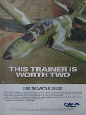 12/1991 PUB AVION CASA C-101 MILITARY TRAINER AIRCRAFT ORIGINAL AD