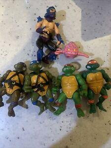 VINTAGE Bundle of Teenage Mutant Ninja Turtles TMNT x 6 90's Playmates Toys.