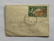 Vintage 1938 Kingston Jamaican 4d Cover King George VI
