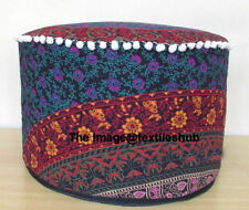 INDIAN PRETTY MANDALA OTTOMAN POUFFE FOOTSTOOL POUF ROUND FLOOR POUFS COVER NEW""