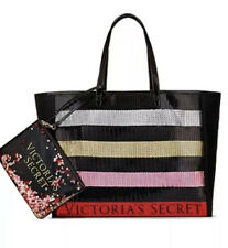 NEW Victoria's Secret Bling Tote Bag & Clutch Sequin Red Gold