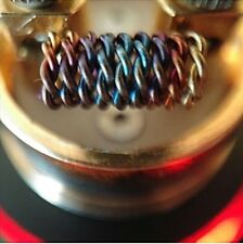 (10) Twisted Dragon Coils Stainless Steel 316L 24g (Clapton Rda Micro Coils)