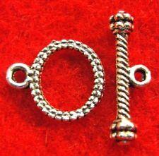 100Sets WHOLESALE Tibetan Silver OVAL Toggle Clasps Connectors Hooks Q0948