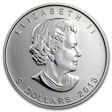 2013 Canada Maple Leaf .9999 Silver $5 Coin - 1 oz Troy - Five 5 Dollars