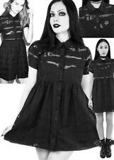 Iron Fist Black Bone Me Babydoll Pink Rockabilly Dress Size S