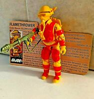 Vintage GI Joe ARAH 1984 Blowtorch 100% Complete with File Card!!