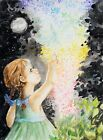 "Travis Shanks, ""The Fairy Tale"", 11""x15"", Original, Watercolor, Children"