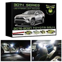 White LED interior lights kit package for 2016-2021 Toyota RAV4 3014 SMD +Tool