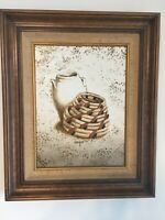Still Life Painting Native American Indian Pottery & Basket Signed Cooper, MB182