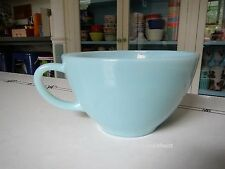 Vintage Fire King Turquoise Blue Milk Glass Oven Ware Cup