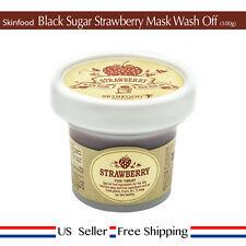 Skinfood Black Sugar Strawberry Mask Wash 100g + Free Sample [US Seller]