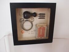 STEAMPUNK Original Shadowbox Mixed Media Art by BENEDICTE DEFOUR France