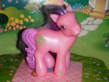 My Little Pony Purple Hair Pink Body Green Flower and Heart Pony