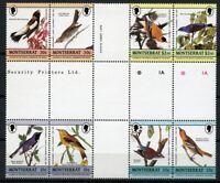 Montserrat 1985 Audubon Vögel Gemälde Zeichnungen 597-604 Herzstück MNH / 263