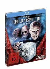 Hellraiser 1-3 (Steelbook) (Cut) [Blu-ray] NEU OVP