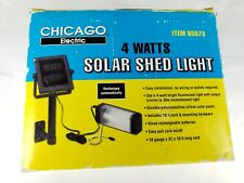 Harbor Freight Chicago Electric 4 Watt Solar Shed Light New In Box Old Stock