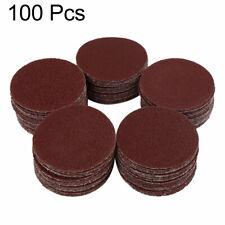 100pcs 2 Inch Hook and Loop Sanding Discs Pads Sandpaper 60 80 100 120 150 Grits