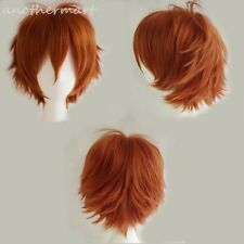 Glueless Short Anime Cosplay Wigs Real Heat Resistant Synthetic Hair Costume #UR