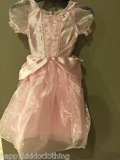 ALL DRESSED UP GIRLS HALLOWEEN COSTUME Pink PRINCESS DRESS Size 5 6 NEW Fancy