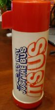 """Vintage Aladdin Greyhound Bus Thermos 1 Pint """"It's Not Just the Bus, It's Us"""" 00006000 ;"""