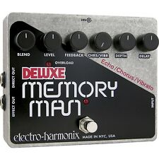 Electro-Harmonix Deluxe Memory Man Tempo Analog Delay Guitar Effect Pedal +Picks