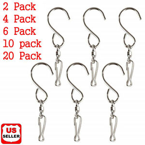 Swivel Hooks Clips Hanger for Hanging Wind Chimes Crystal Twisters Spinning Deco