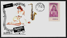 1950 Buescher Top Hat & Cane & Pin-Up Featured on Collector's Envelope *A459