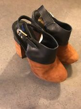 Dolce Vita Black and Brown Heels Size 8.5