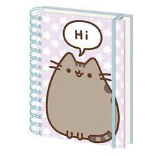 Genuine Pusheen Says Hi A5 Wiro Hardback Journal Notebook Pad Cute Kitten Cat