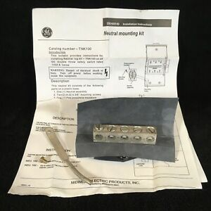 GE TNK100 Neutral Mounting Kit 30-100A w/ Bond Strap DEH44149, Brand New, Unused
