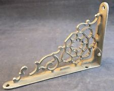 """ANTIQUE CAST IRON SHELF SUPPORT SCROLLWORK PATTERN ANGLE SUPPORT 6x4"""""""