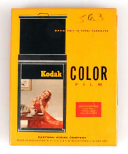3.25x4.25 KODAK EKTACHROME DAYLIGHT FILM, 10 SHEETS IN UNOPENED BOX, EXP. 1960