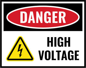 High Voltage Sign Work Place Warning Danger Safety Vinyl Sticker - Any Size