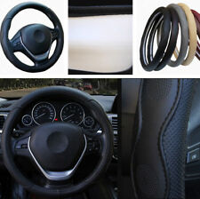 "15"" 38cm Car Steering Wheel Cover Protector Non-slip Black PU Leather Universal"