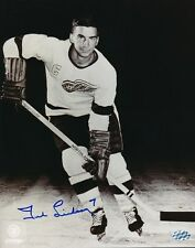 Ted Lindsay Red Wings Signed 8x10 Photo Autograph Auto Mounted Memories