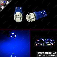 2x Ultra Blue T10 Wedge Gauge Cluster Intrusmental Speedometer LED Light Bulb