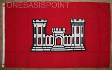 3'x5' ARMY CORPS OF ENGINEERS FLAG VESSEL ARMED FORCES PATRIOTIC RED USA COE 3X5