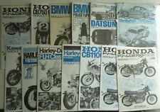 lot of Tamiya model instruction manuals, Porsche, Harley, Honda, BMW, Kawasaki