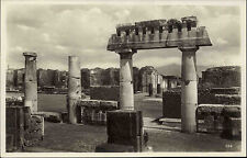 Neapel Pompeji Italien ~1920/30 Teilansicht Ausgrabungsstätte Vulkanausbruch